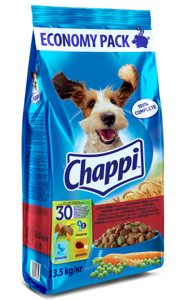 CHAPPI Vita, pasare si legume, hrana uscata pentru caini adulti, 13.5 kg 0