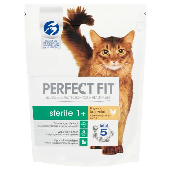 PERFECT FIT CAT Adult Sterilised, hrana uscata cu pui 750 g 0