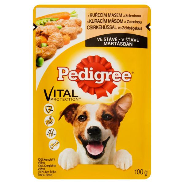 PEDIGREE Vital Protection Plic cu pui si legume in sos, hrana umeda pentru caini adulti 100g 0