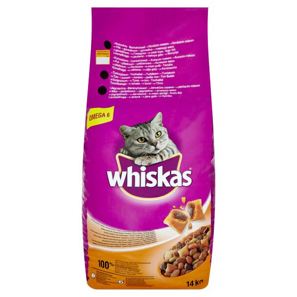 Whiskas Adult cu pui si ficat 14 kg 0