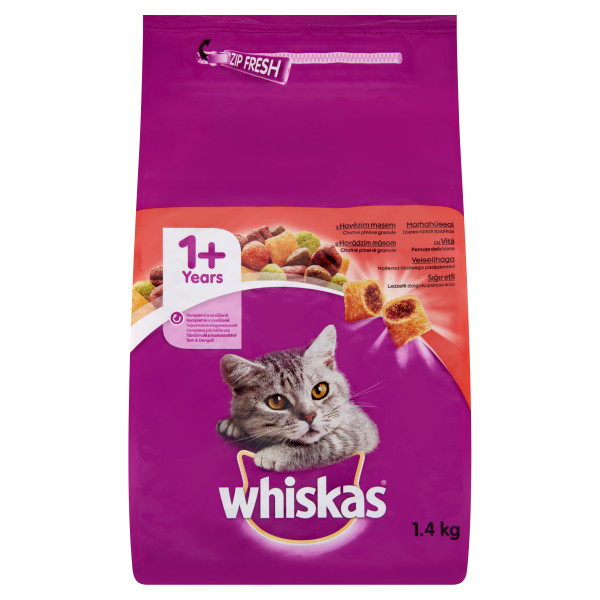 Whiskas Adult cu vita si ficat 1.4 kg 0