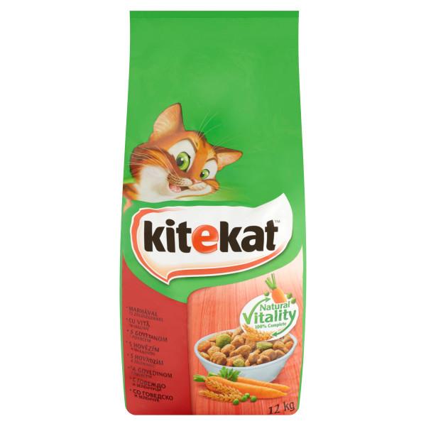 KITEKAT vita si legume hrana uscata pentru pisici adulte, 12 kg 0
