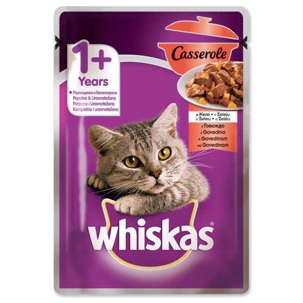 Whiskas Adult Plic Casserole cu vita in aspic 85 g 0