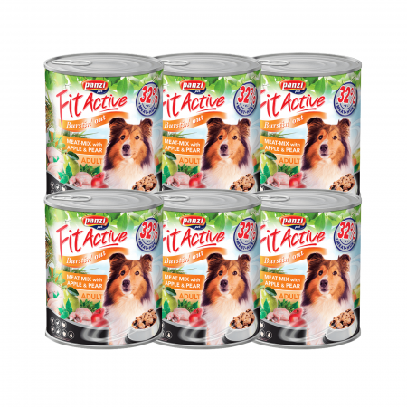 5+1 Fit Active Premium Adult Dog, conserva mix de carne 415 g0