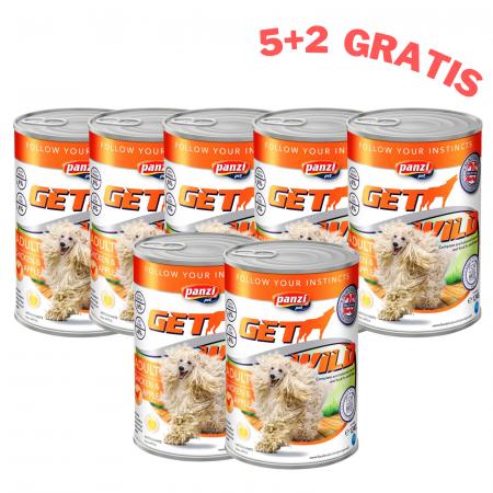 5+2 gratis GetWild Adult, conserva cu pui si mar 415 g [0]