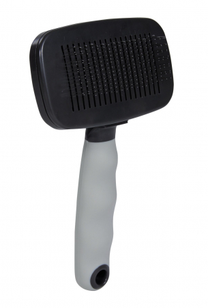Perie Plastic  cu buton pentru curatare 16x9 cm 23081 Trixie0