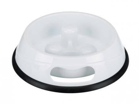 Castron plastic hranire lenta pentru caini, 1.5 l Trixie 250334