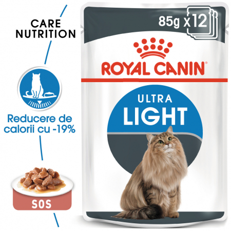 ROYAL CANIN Ultra Light hrana umeda in sos 12x85g0