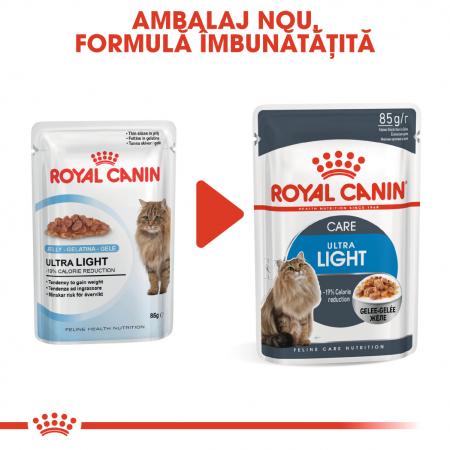 Royal Canin Ultra Light hrana umeda in aspic pentru pisici 12*85 g1