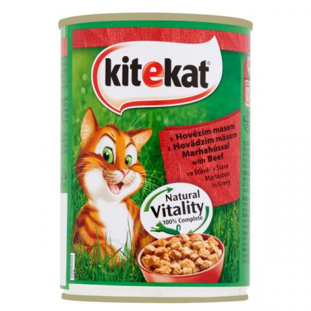 KITEKAT Conserva cu vita in sos, hrana umeda pentru pisici adulte, 400 g