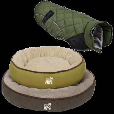 PACHET Mon Petit Ami - Jacheta 45 + Culcus Rotund M, 63x11cm verde inchis [0]