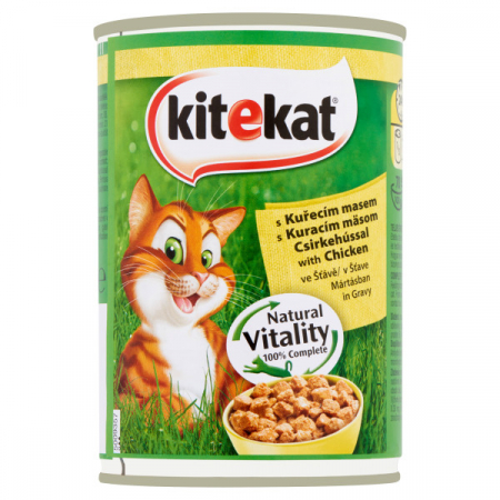 KITEKAT Conserva cu pui in sos, hrana umeda pentru pisici adulte 800g