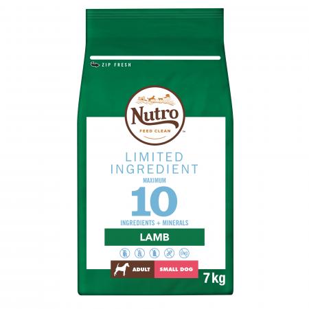NUTRO™ LIMITED INGREDIENT Hrană Uscată cu Miel pentru Câine Adult de Talie Mică 7 kg
