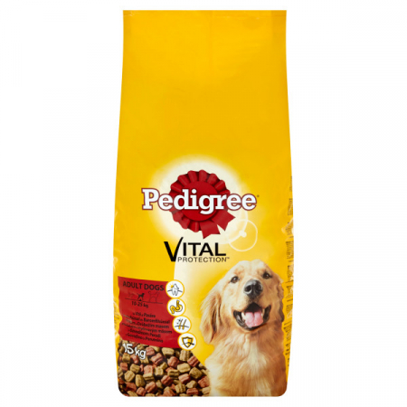 Pedigree Vital Protection Adult 15 kg, vita si pasare