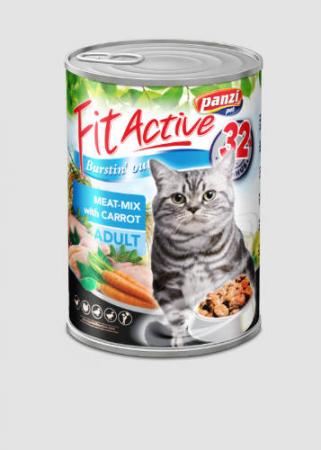 Fit Active Cat Adult Conserva Mix de carne cu morcovi 415 g