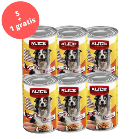 PROMO 5+1 Conserva Alice P. hrana umeda 1240 g, pui [0]
