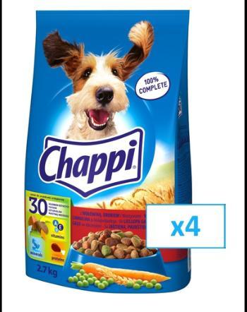 Promo Pack 4 x 3 kg Chappi vita, pasare si legume0