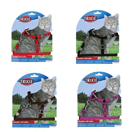 Trixie Set ham si lesa 26-37 cm/10 mm, 1.20 m pentru pisici mov 418911