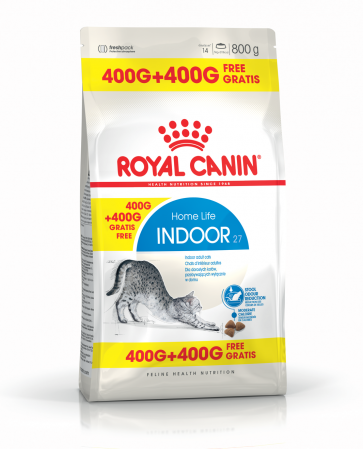 ROYAL CANIN Indoor 27, 400g+400g gratuit0
