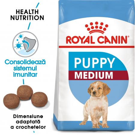 CADOU Royal Canin Medium Puppy 15 kg + 5 x Pedigree Junior Plic cu pui 100 g [8]