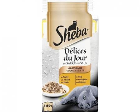 Sheba Mini Pouch Adult Selectii Pasare si Peste 6*50 g