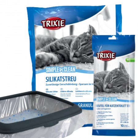 CADOU Trixie Nisip Granule 5L + Pungi Igienice pentru Litiera 10 buc [0]