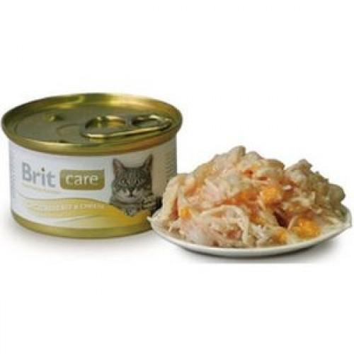 Brit Care Pisica Piept Pui Branza conserva 80 g 0