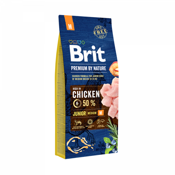 Brit Premium By Nature Junior M 15 Kg Livrare GRATUITA