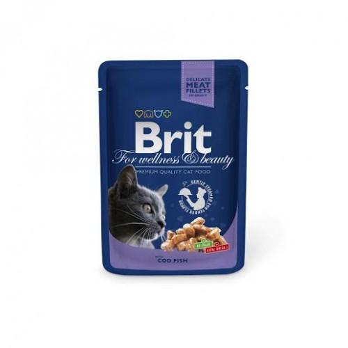 Brit Premium Cat Plic Cod 100 g 0