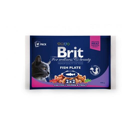 Brit Premium Sterilised Cat Pui 100 g 0