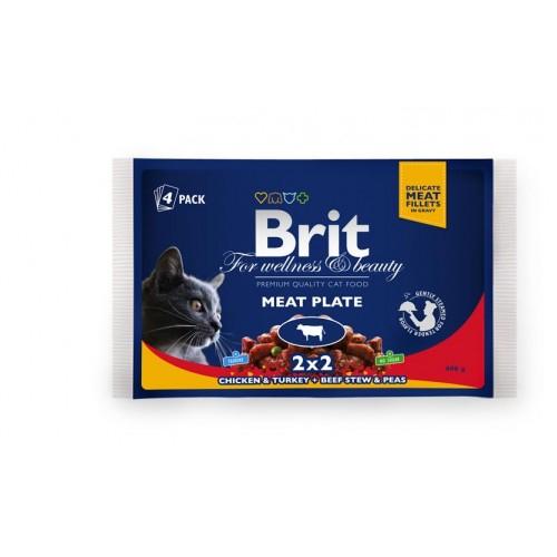 Brit Premium Cat Multipack Felii de Carne 4 x 100 g 0