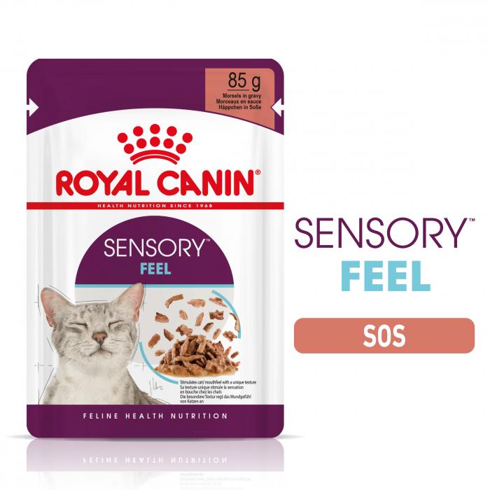 Royal Canin Sensory Feel, hrana umeda pisici, stimularea simtului tactil (in sos), 12 x 85 g [8]