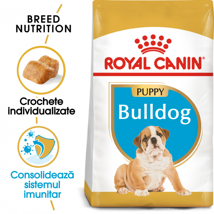 Royal Canin BULLDOG Puppy Hrana Uscata Caine 0