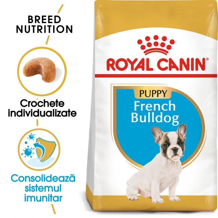 Royal Canin French Bulldog Puppy hrana uscata caine junior, 3 kg 0