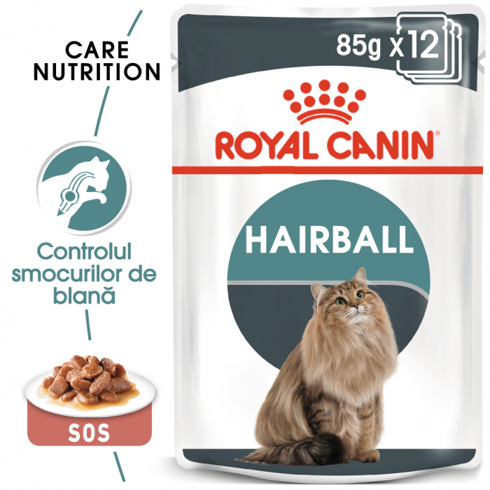 Royal Canin HAIRBALL CARE Gravy Hrana Umeda Pisica 0