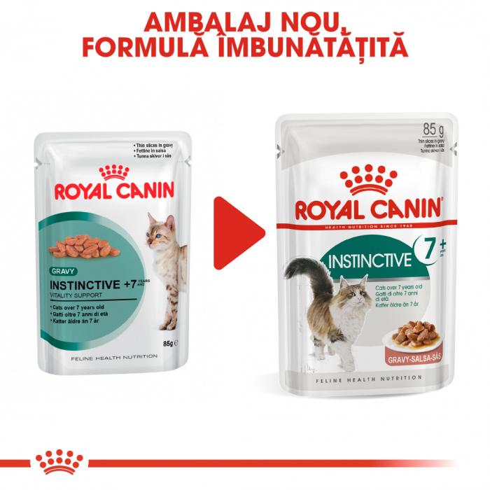 Royal Canin INSTINCTIVE 7+ Gravy Hrana Umeda Pisica 6