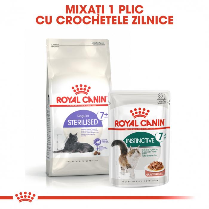 Royal Canin INSTINCTIVE 7+ Gravy Hrana Umeda Pisica 5