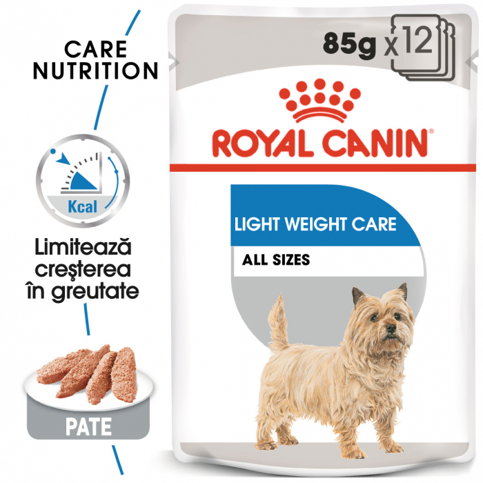 Royal Canin LIGHT Loaf 12x85g Hrana Umeda Caine 0
