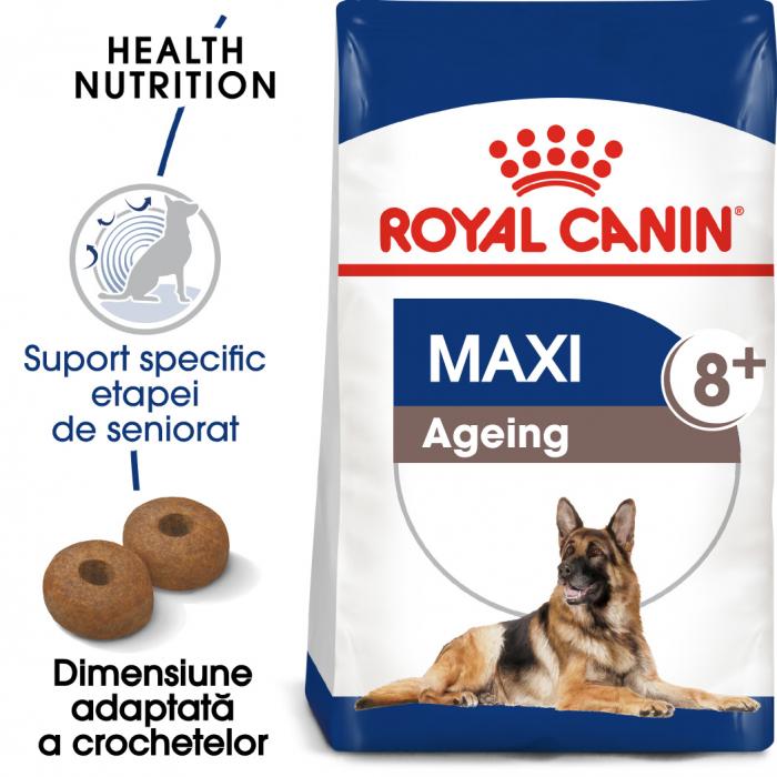 Royal Canin MAXI AGEING 8+ Hrana Uscata Caine 0