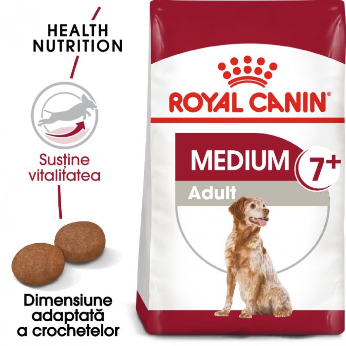 Royal Canin MEDIUM Adult 7+ Hrana Uscata Caine 0