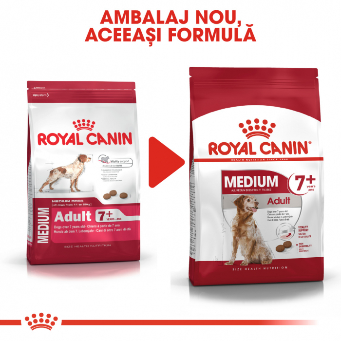 Royal Canin MEDIUM Adult 7+ Hrana Uscata Caine 5