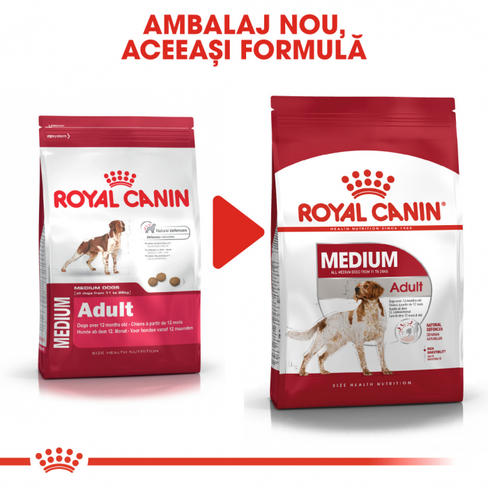 Royal Canin MEDIUM Adult Hrana Uscata Caine 5