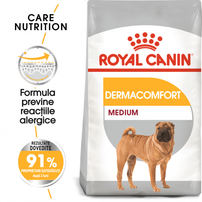 Royal Canin Medium Dermacomfort Hrana Uscata Caine 0