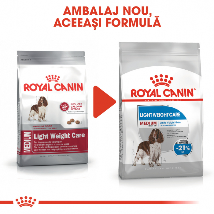 Royal Canin MEDIUM LIGHT WEIGHT CARE Hrana Uscata Caine 1