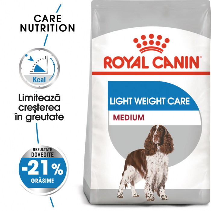 Royal Canin MEDIUM LIGHT WEIGHT CARE Hrana Uscata Caine 0