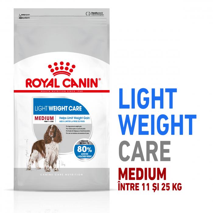Royal Canin MEDIUM LIGHT WEIGHT CARE Hrana Uscata Caine 0