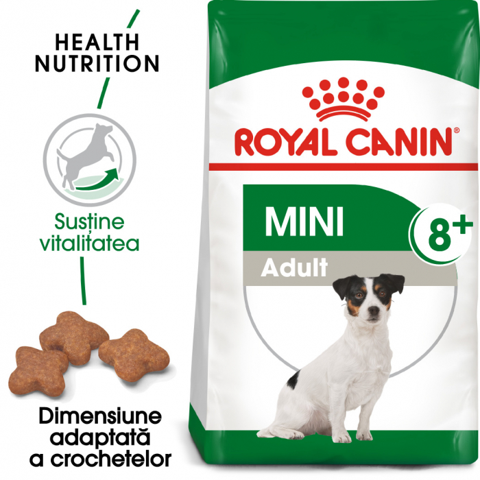 Royal Canin Mini Adult 8+ hrana uscata caine senior 0