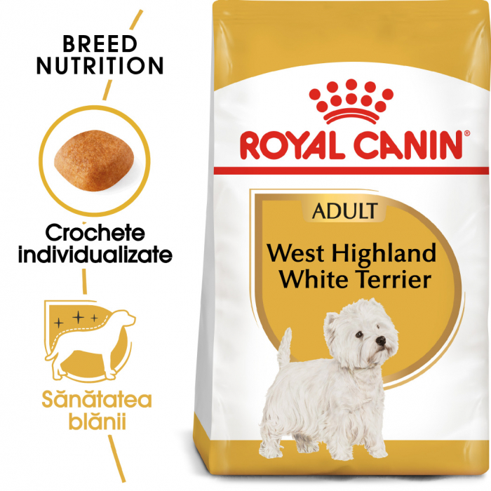 Royal Canin WEST HIGHLAND WHITE TERRIER Adult Hrana Uscata Caine 0