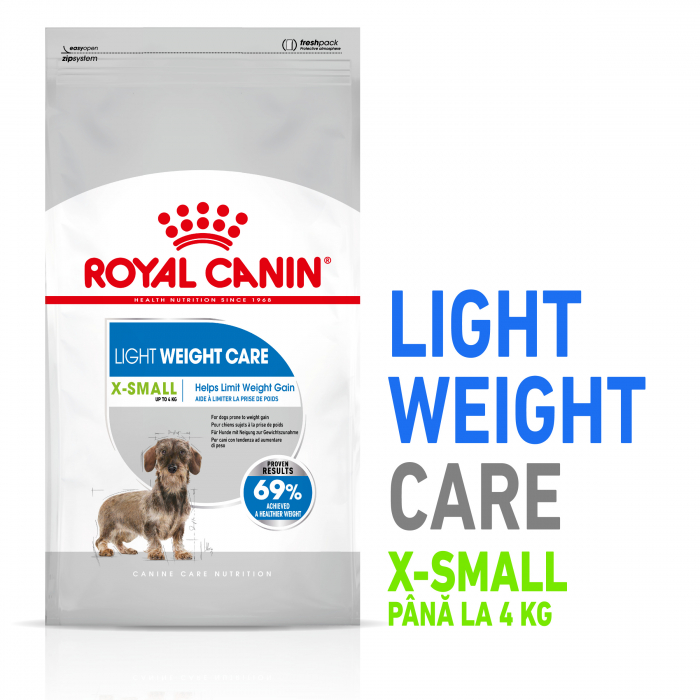 Royal Canin XSmall Light Weight Care Adult hrana uscata caine, limitarea cresterii in greutate, 1.5 kg [6]