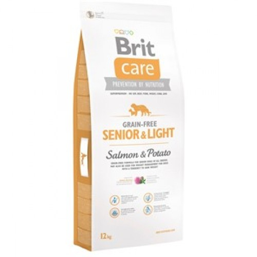 Brit Care Senior Light cu somon 12 Kg Livrare GRATUITA